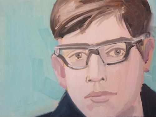 Alex Katz painted self-portrait