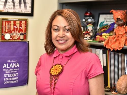Maggie Rivera, the college's coordinator of student involvement
