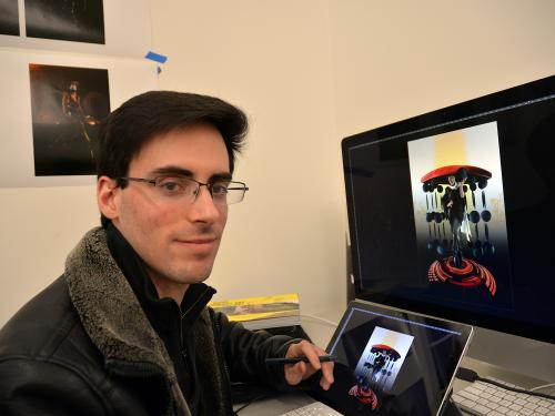 Master's students like Paul Farinelli will display artwork in exhibition
