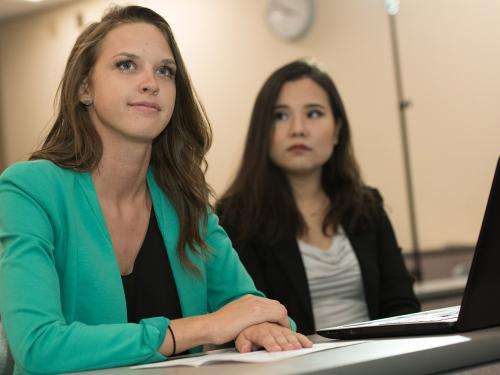 Students in MBA program at SUNY Oswego