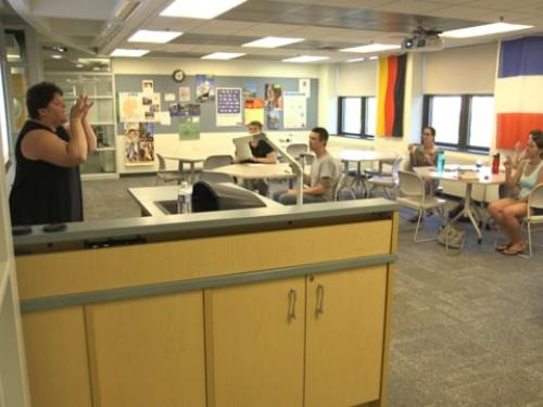 American Sign Language class during SUNY Oswego Summer Sessions