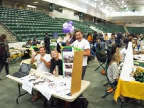 Students make connections at the Student Involvement Fair