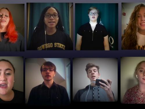 "SUNY Oswego Virtual Choir performs ""Hallelujah"""