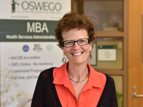 Melissa Arduini earned a statewide award for her exceptional work for Oswego's MBA program