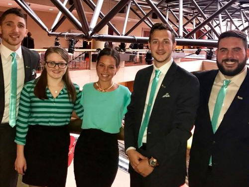 Enactus students at competition