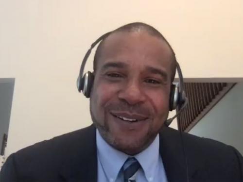 """Chief Diversity and Inclusion Officer Rodmon King delivered the closing keynote, """"New Conversations: Shifting Diversity, Equity and Inclusion from a Grievance Modality to One of Intentionality and Implementation,"""" for the SUNYCUAD Unconference,"""