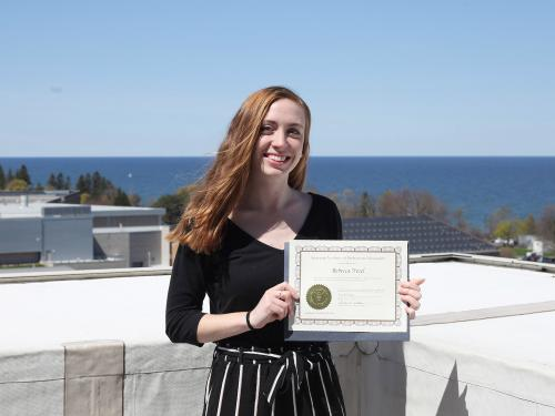 Rebecca Nesel received a National Student Scholarship from the American Institute of Professional Geologists