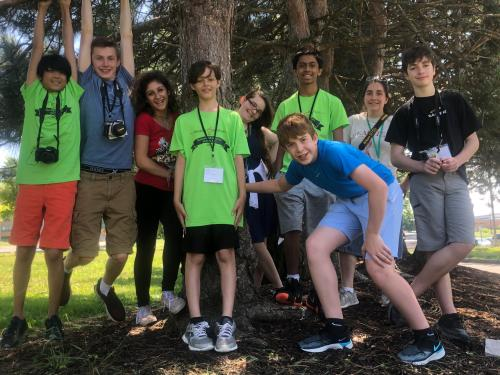 Participants in the 2019 Sheldon Institute program enjoy an outdoor activity on the SUNY Oswego campus.