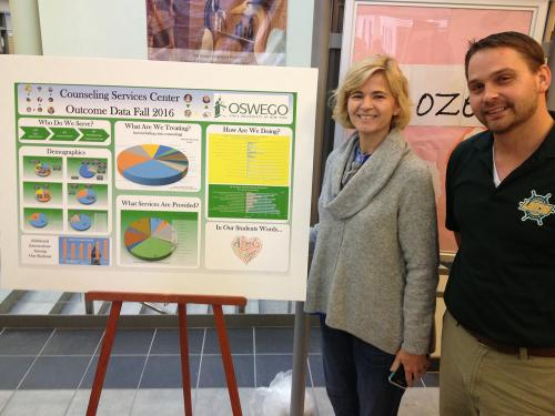 SUNY Oswego mental health counselors present data