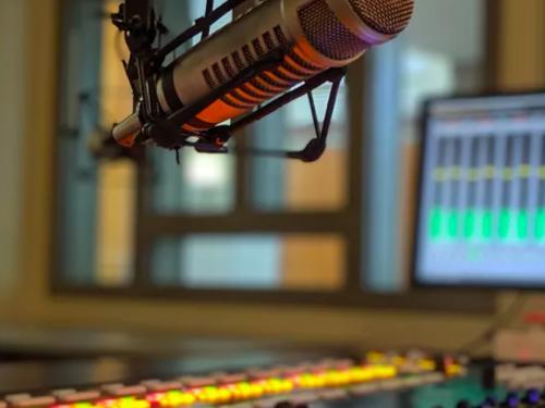 Microphone in WNYO studio