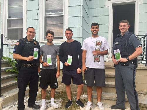 Police greet off-campus students as part of Welcome Back patrol