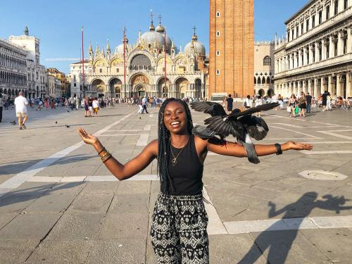 Rita Ntim-Gyakari in Venice