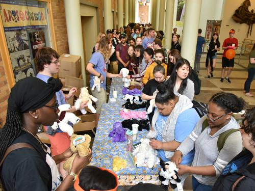 Students partake in Stuff-A-Buddy activity at OzFest