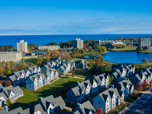 SUNY Oswego from above The Village