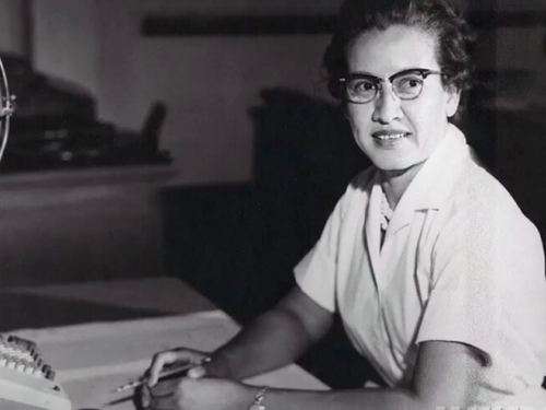 Katherine Johnson, a mathematician whose calculations and creative mind were critical to NASA's success in the Space Race.