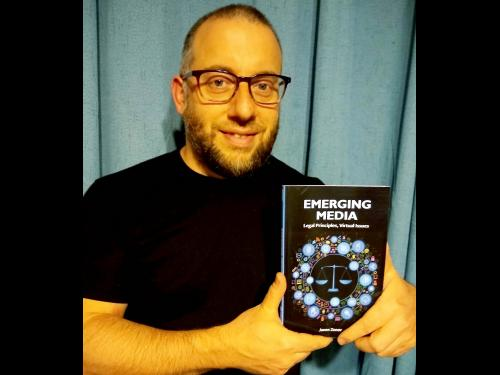 Jason Zenor with book about emerging issues in media law