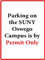 Parking on campus by permit only