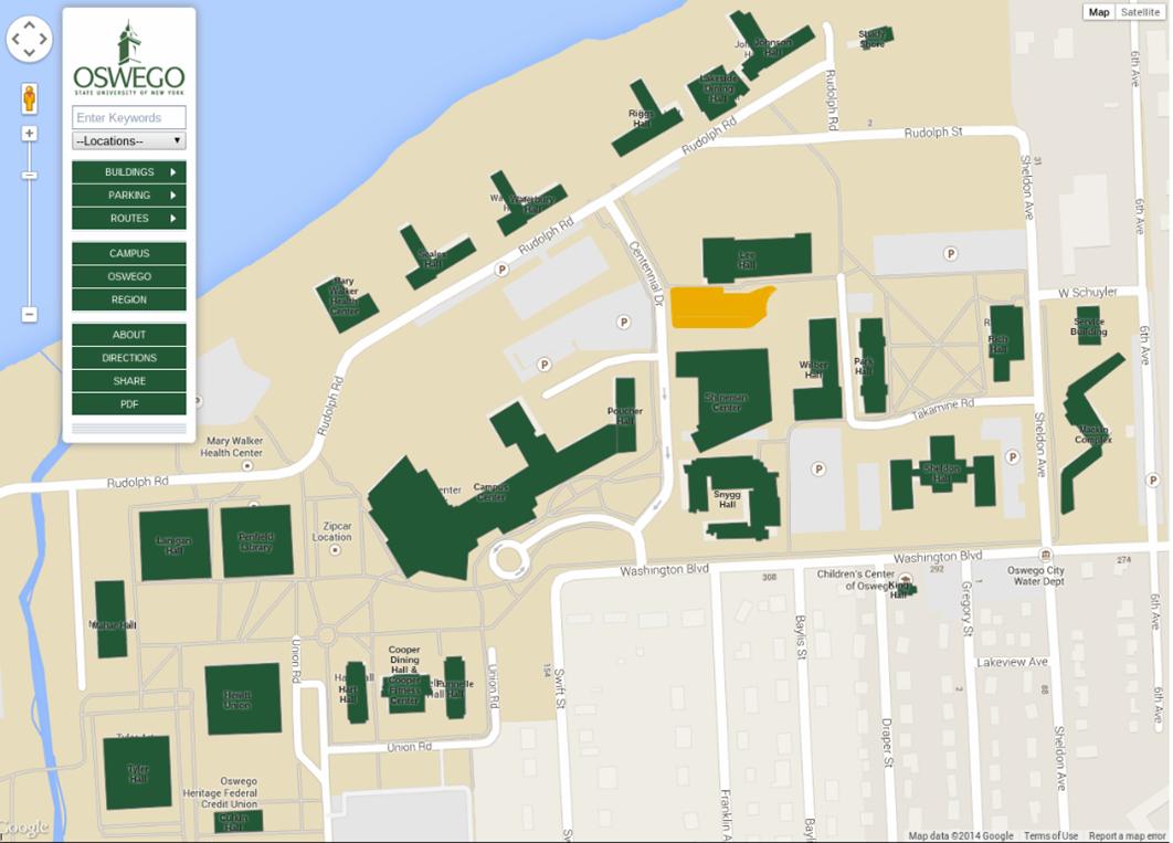 Suny Oswego Map Oswego Campus Map | Time Zone Map
