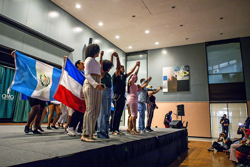 Latino Student Union performs at the annual ALANA Fashion Show