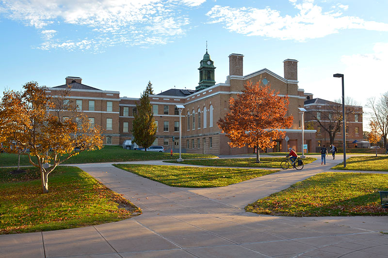 Sheldon Hall in autumnal scene