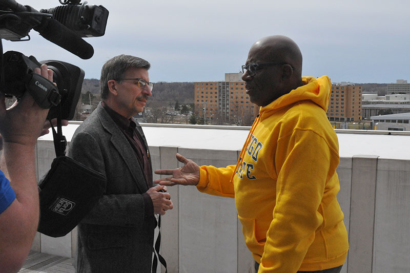Fritz Messere and Al Roker