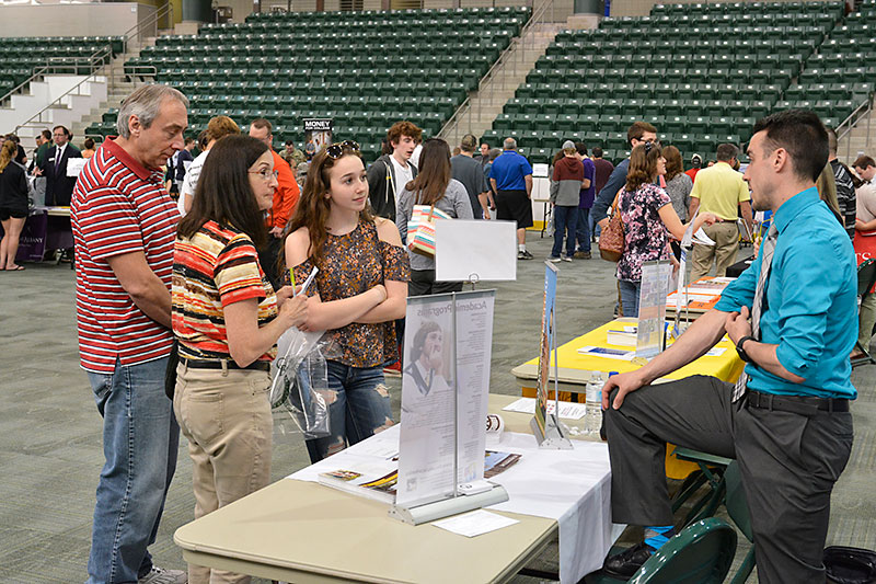 High school students and families at College Fair
