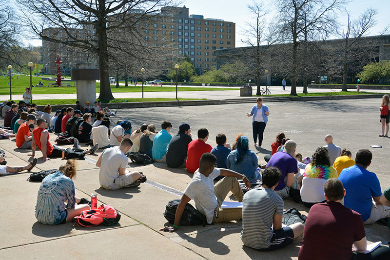 Class taught outside