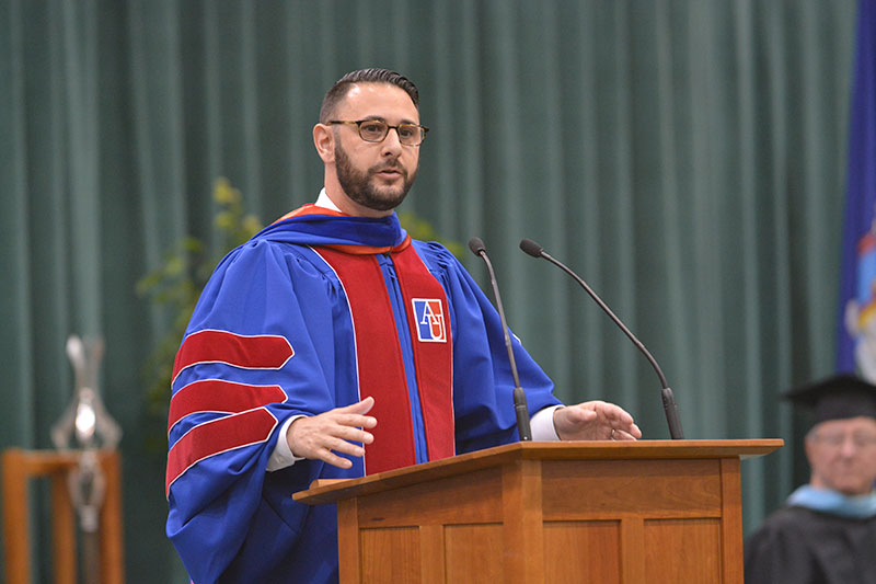 Vincent Intondi speaks at Commencement
