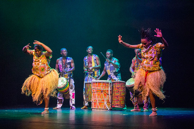 David Etse and the Adanfo Dancers perform