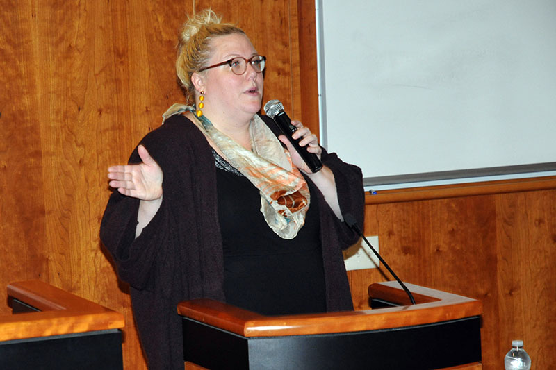 ORI author Lindy West speaks with students