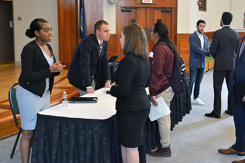 Professionals speak with American Marketing Association students