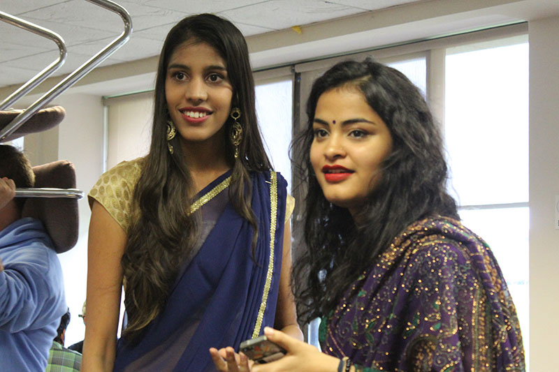 Students show off some costumes, traditions of Diwali festival