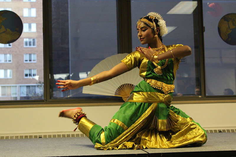 A dancer performs a traditional dance from India