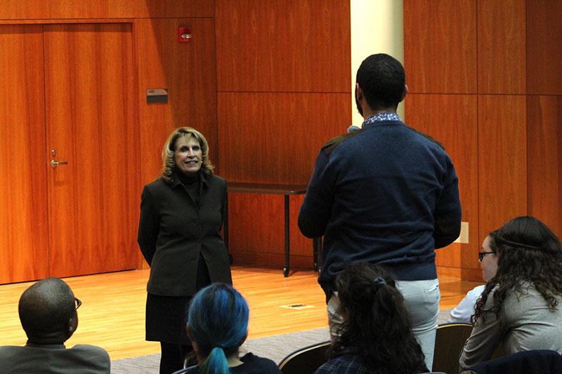 Eusebio Omar Van Reenen asks President Deborah F. Stanley a question