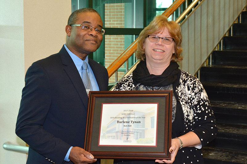Darlene Tynan of Rich Hall won the Building Representation of the Year Award for SEFA