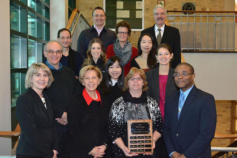 Rich Hall won Baskets of Caring fundraising award