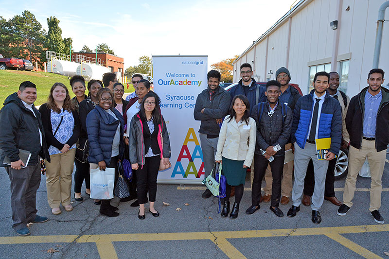 Participants in National Grid career event gather for group photo