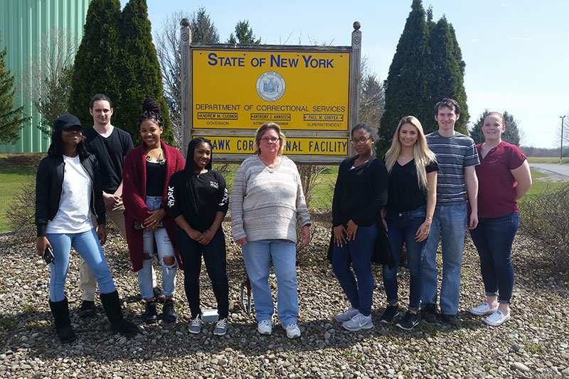 Public justice students on field trip