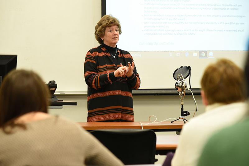 Margaret Lloyd speaks about Excelsior Scholarships