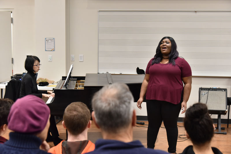 Tehillah Wilson performs song from Ragtime: The Musical at Black History Month Recital