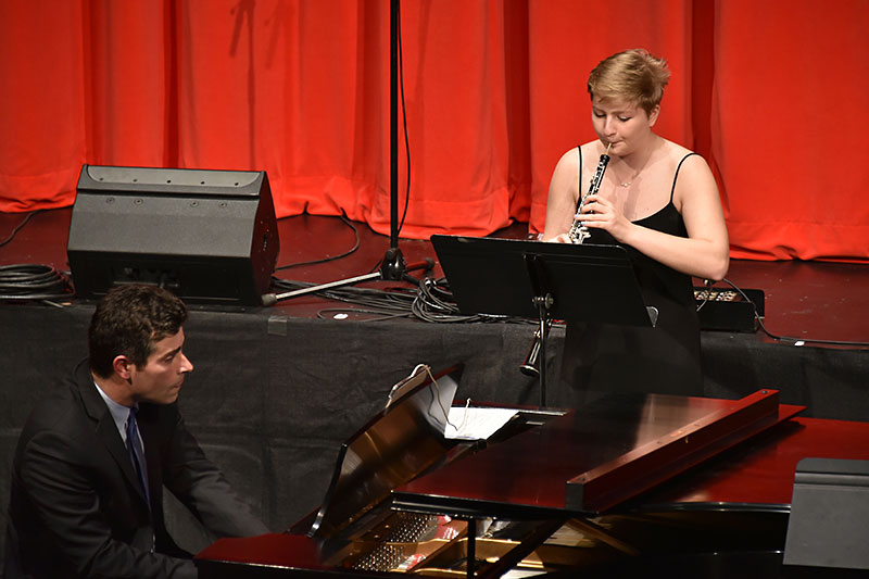 Student soloist Lisa Viviano accompanied by pianist Robert Auler