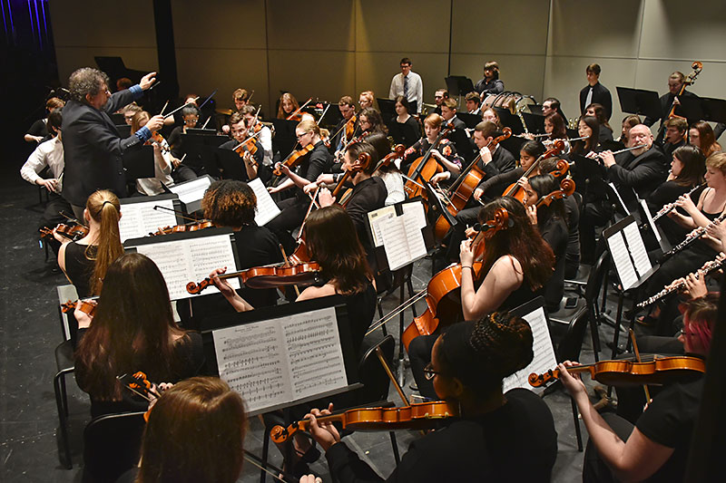 College Community Orchestra performs