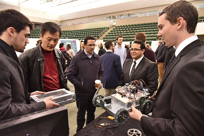 Students explain robotic vehicle