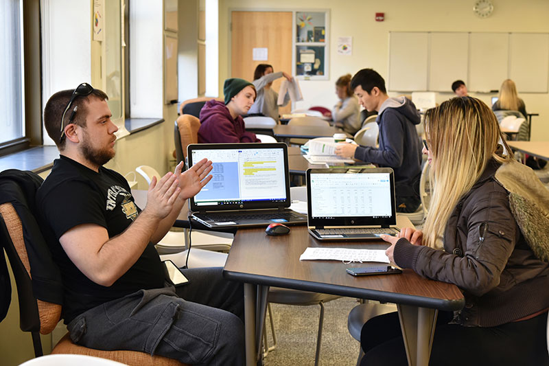 Students learn in Tutoring Center