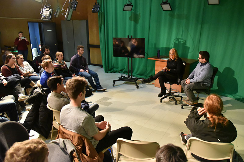Filmmaker Rita Coburn speaks with student media