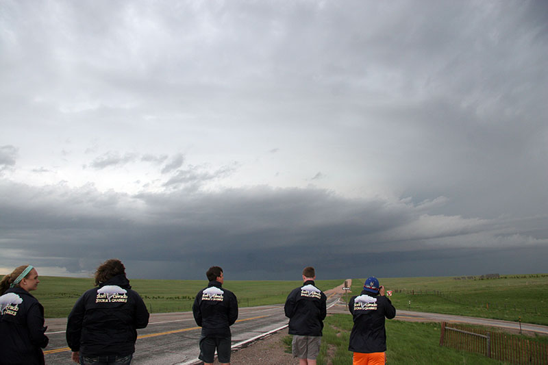 Student meteorologists monitor storm supercell