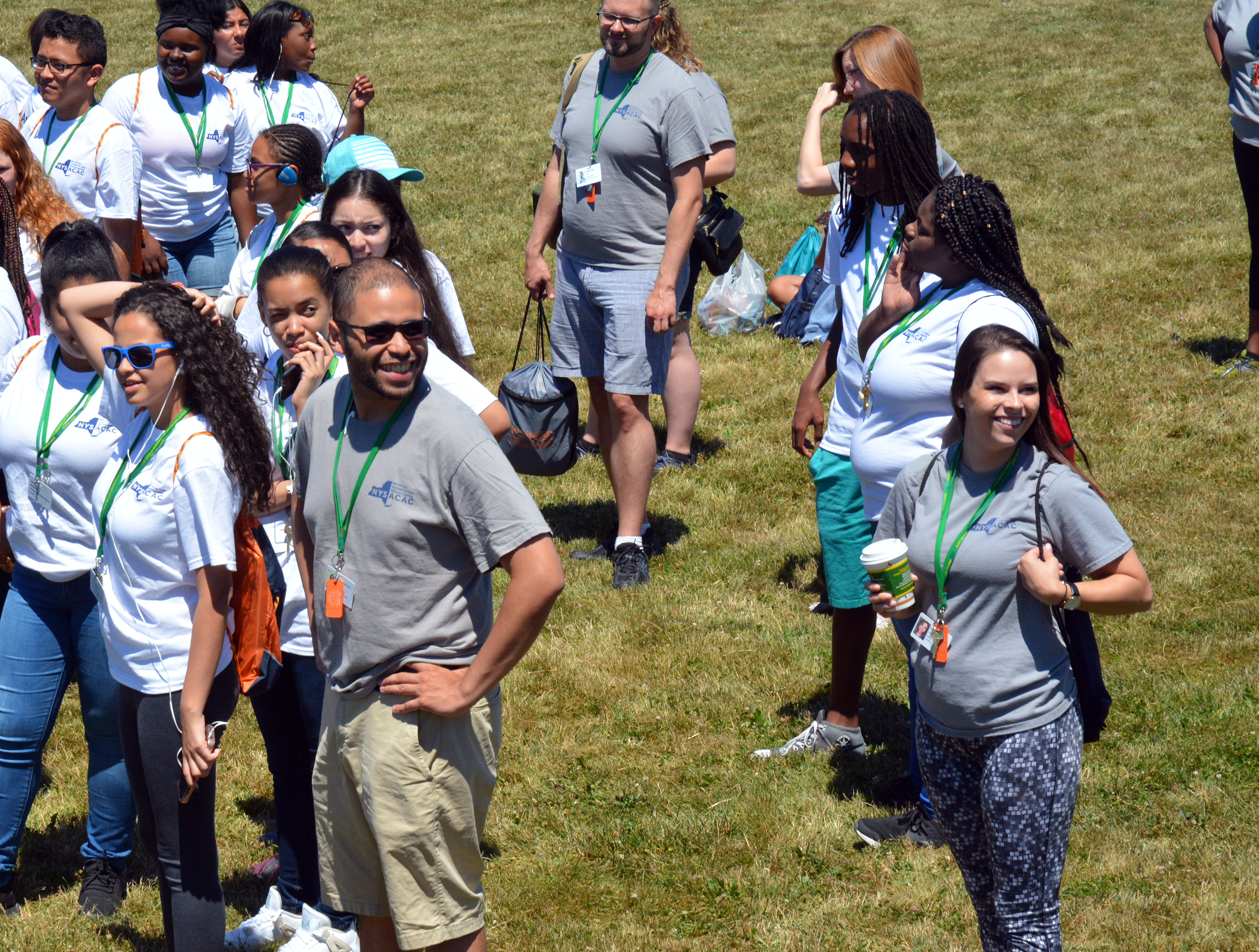 Counselors welcome students to Camp College