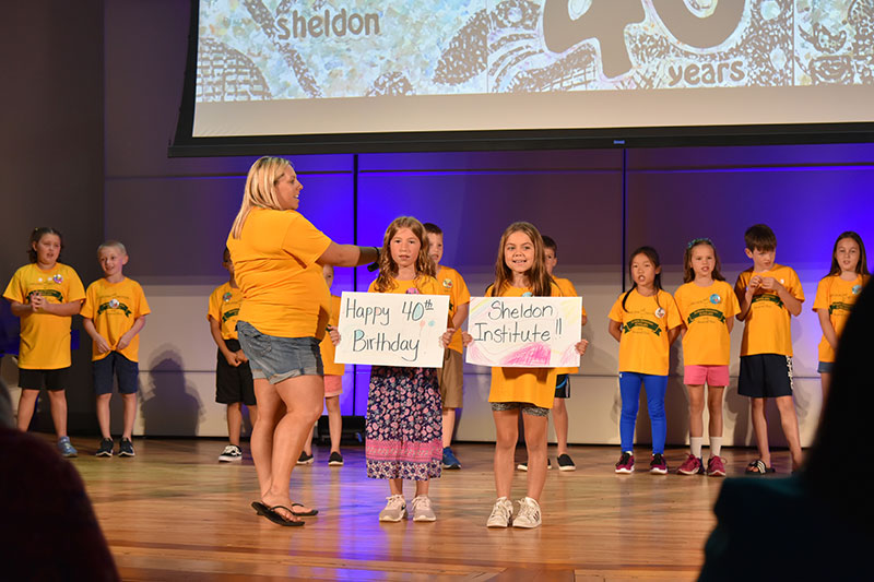 Students celebrate at Sheldon Institute