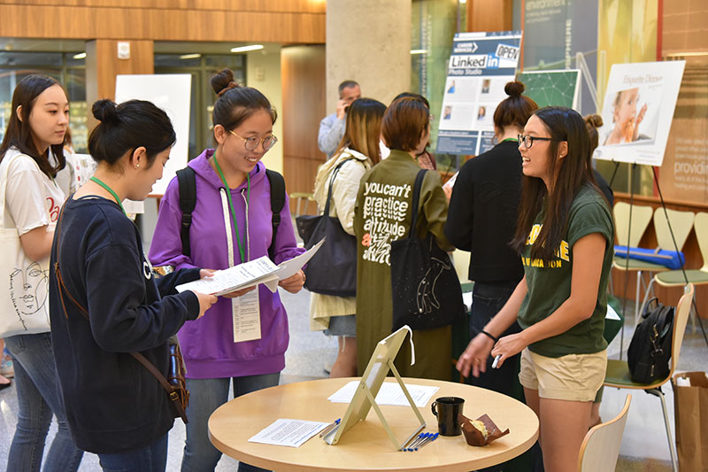 International students attend orientation session