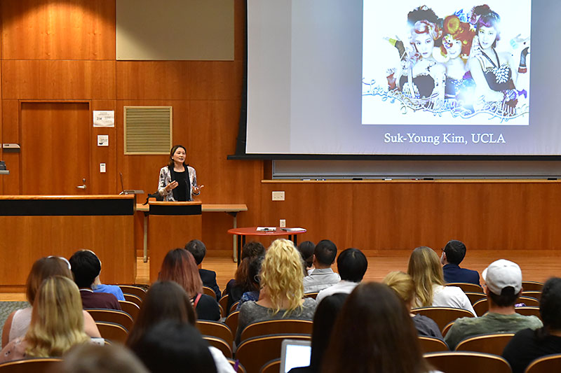 UCLA professor Suk-Young Kim speaks on K-pop for the Year of Korea opening ceremony
